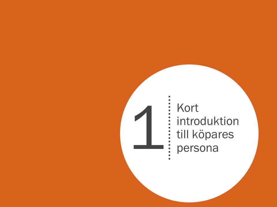 1 Kort introduktion till köpares persona