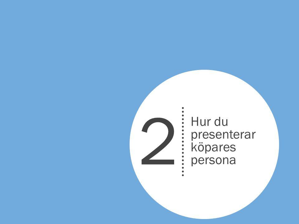 2 Hur du presenterar köpares persona