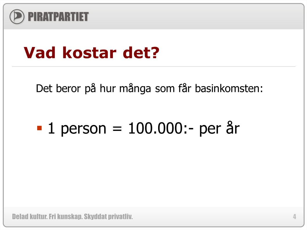Vad kostar det 1 person = 100.000:- per år