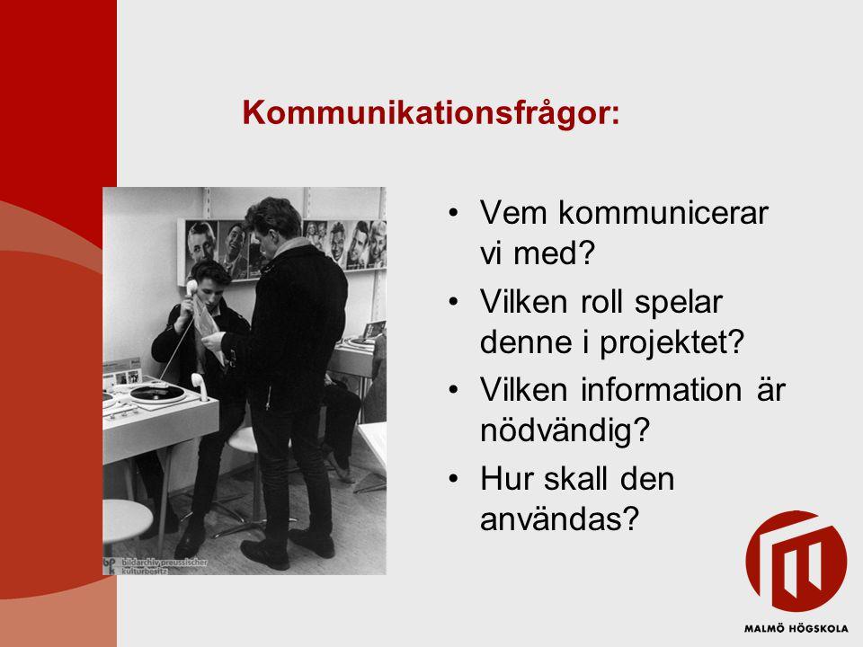Kommunikationsfrågor:
