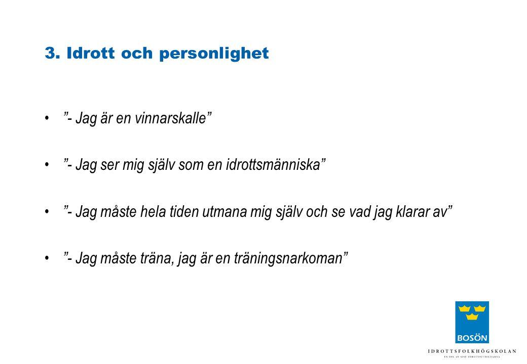 3. Idrott och personlighet