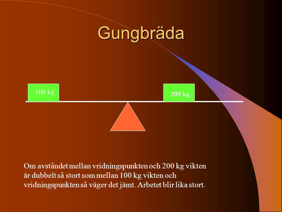 Gungbräda 100 kg. 200 kg.
