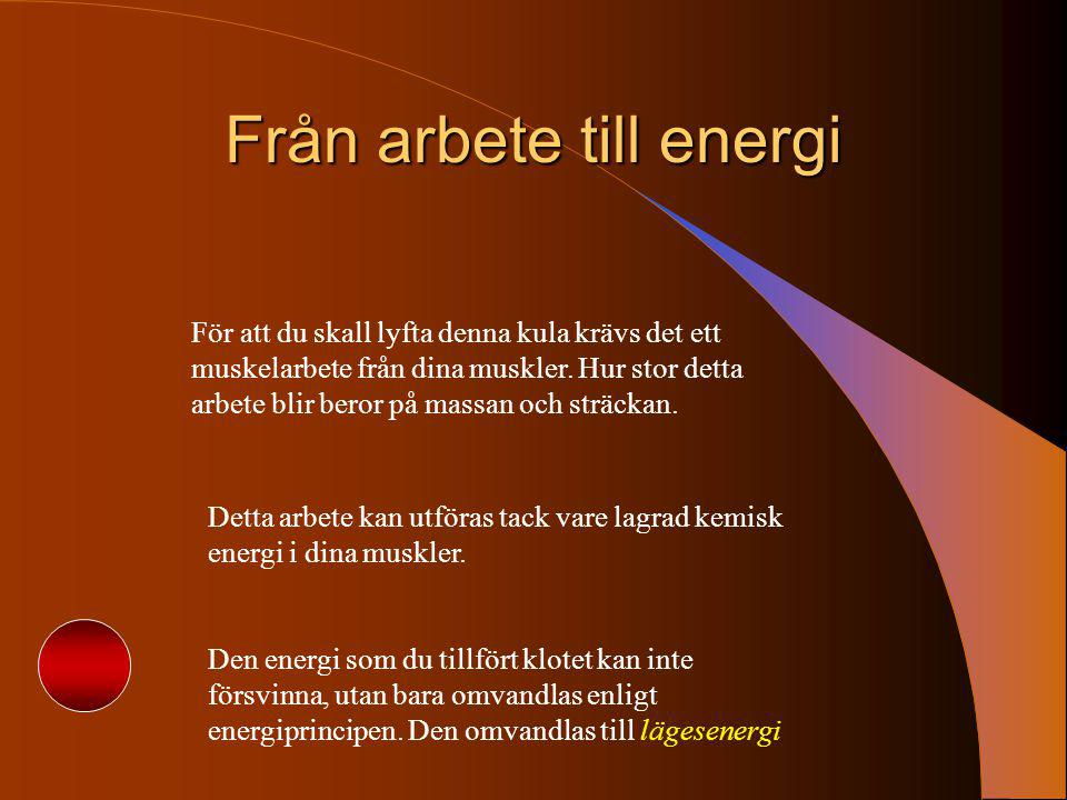 Från arbete till energi