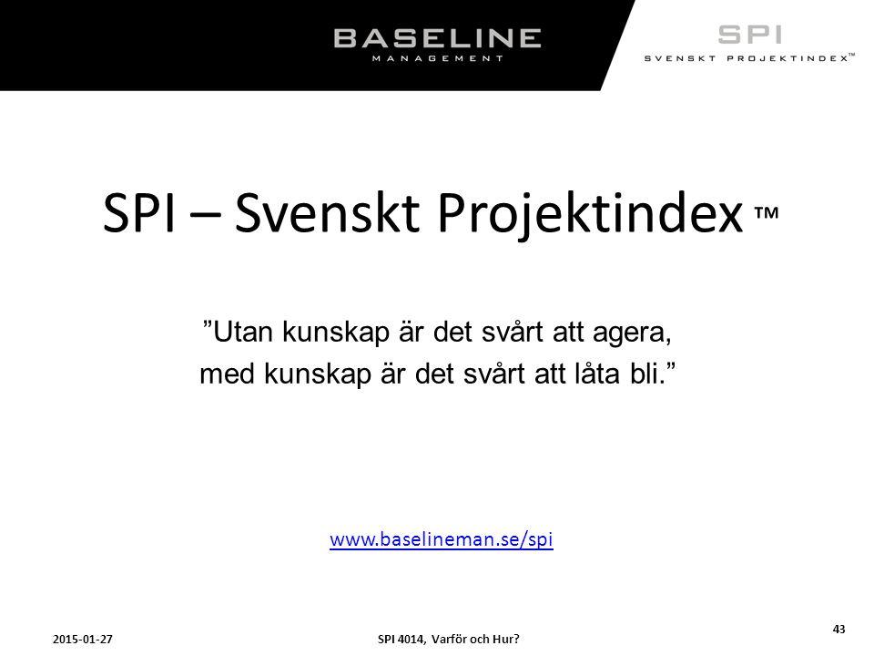 SPI – Svenskt Projektindex ™