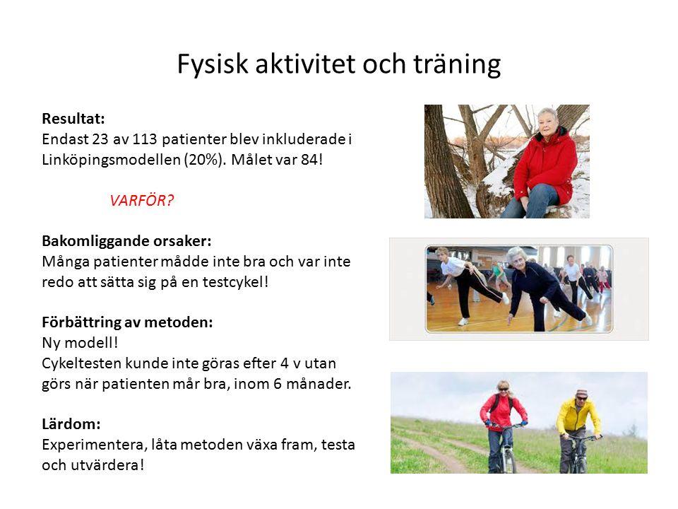 Fysisk aktivitet och träning