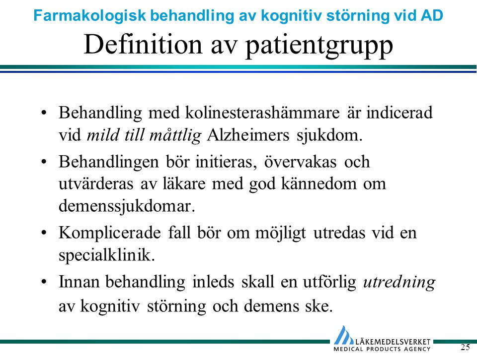 Definition av patientgrupp