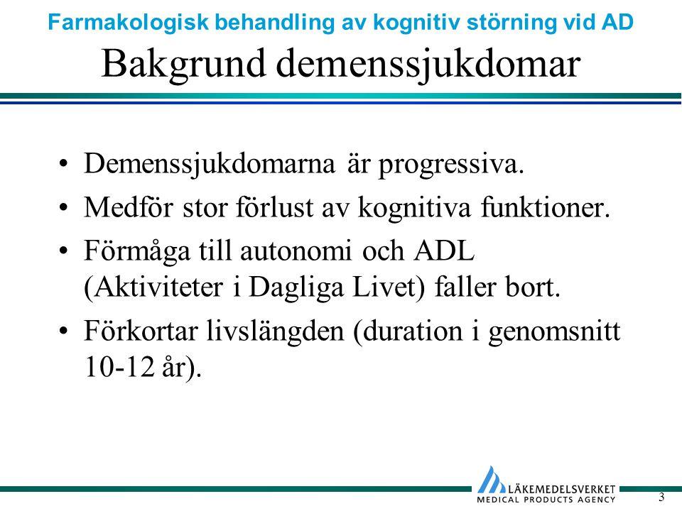 Bakgrund demenssjukdomar