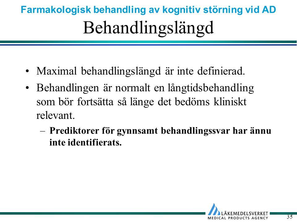 Behandlingslängd Maximal behandlingslängd är inte definierad.