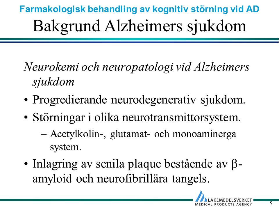Bakgrund Alzheimers sjukdom