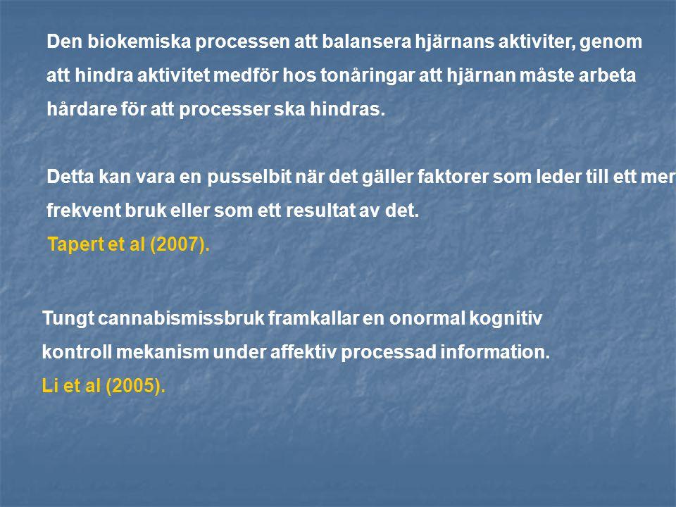 Den biokemiska processen att balansera hjärnans aktiviter, genom