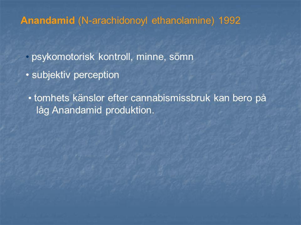 Anandamid (N-arachidonoyl ethanolamine) 1992
