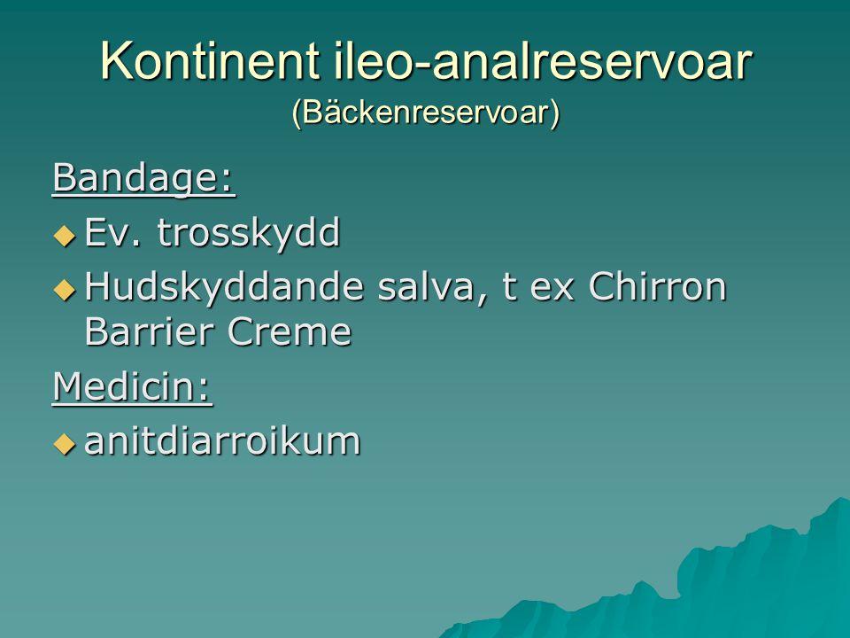 Kontinent ileo-analreservoar (Bäckenreservoar)