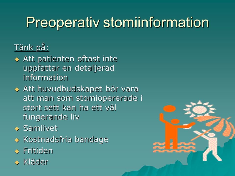 Preoperativ stomiinformation