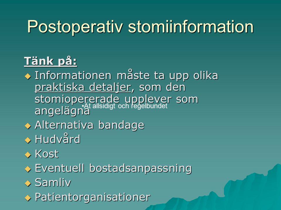 Postoperativ stomiinformation