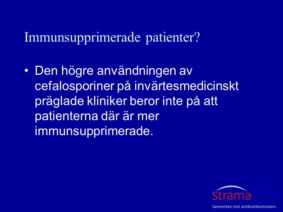 Immunsupprimerade patienter