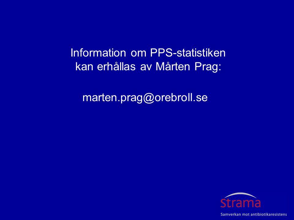 Information om PPS-statistiken kan erhållas av Mårten Prag: