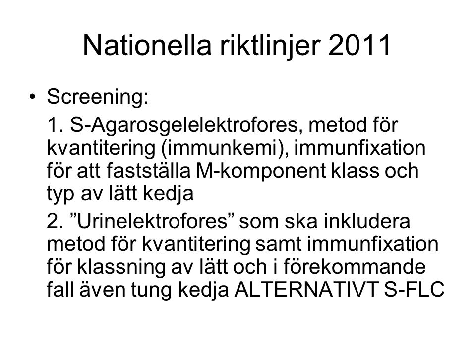 Nationella riktlinjer 2011