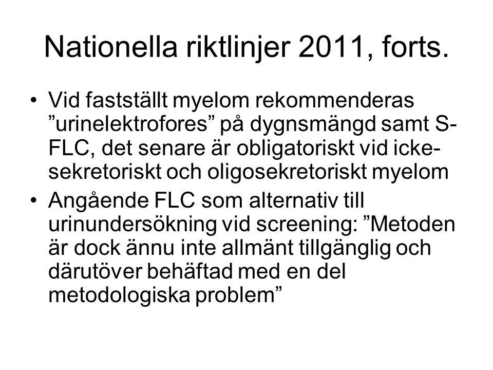 Nationella riktlinjer 2011, forts.