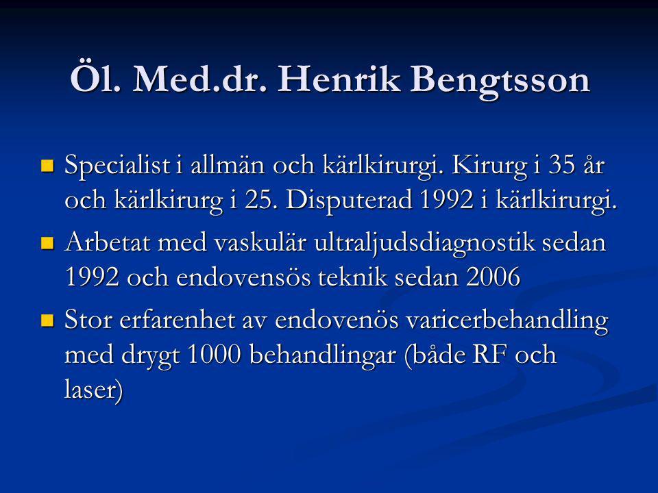 Öl. Med.dr. Henrik Bengtsson