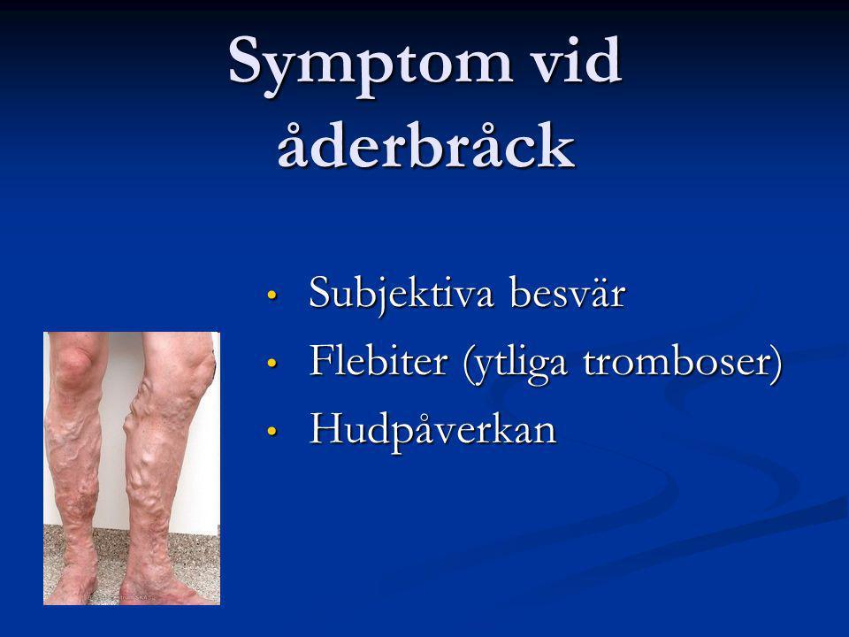 Subjektiva besvär Flebiter (ytliga tromboser) Hudpåverkan