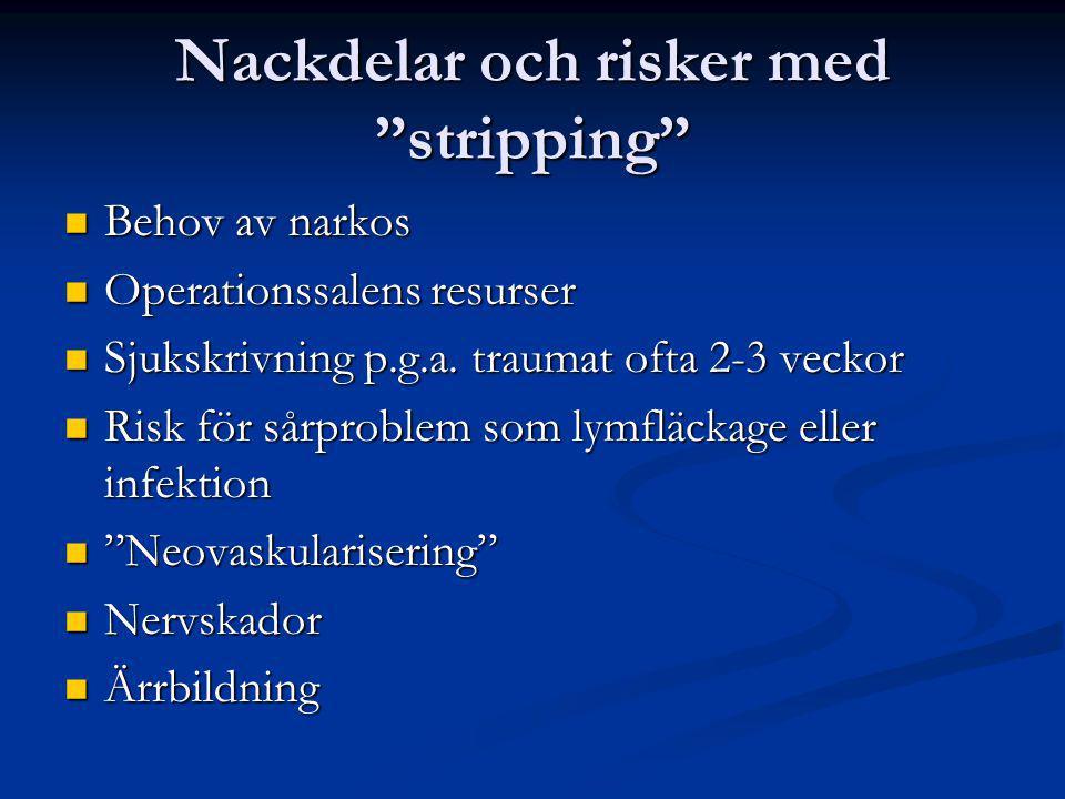 Nackdelar och risker med stripping