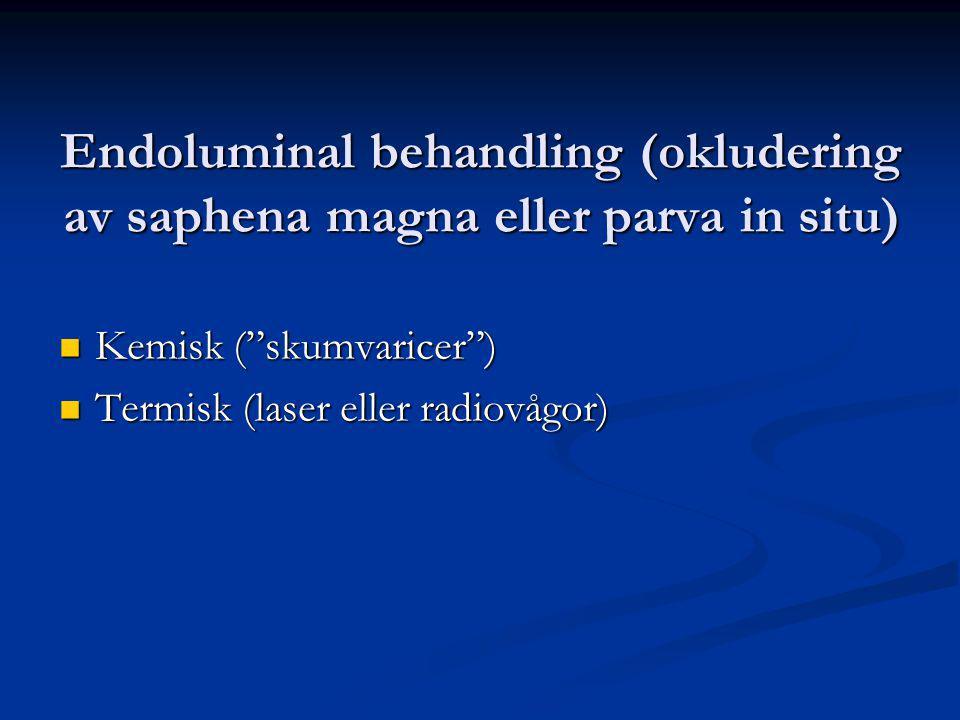 Endoluminal behandling (okludering av saphena magna eller parva in situ)