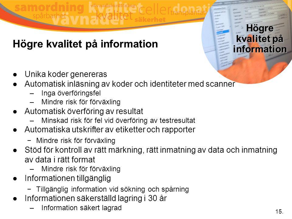 Högre kvalitet på information