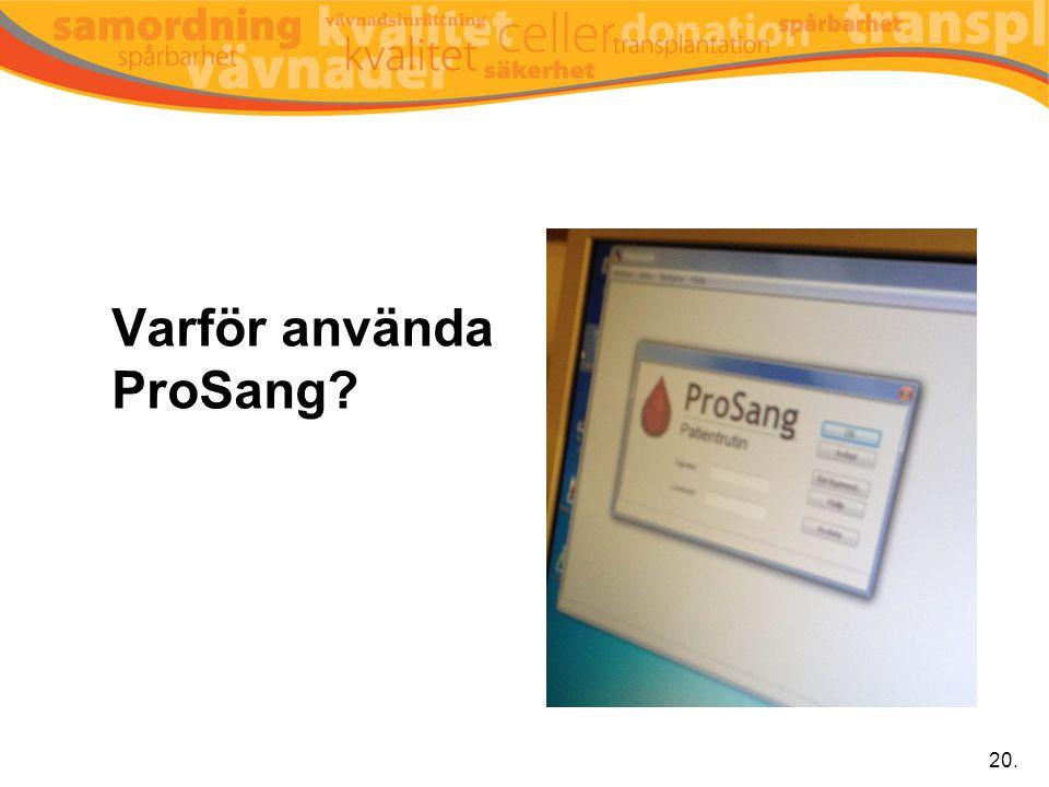 Varför använda ProSang