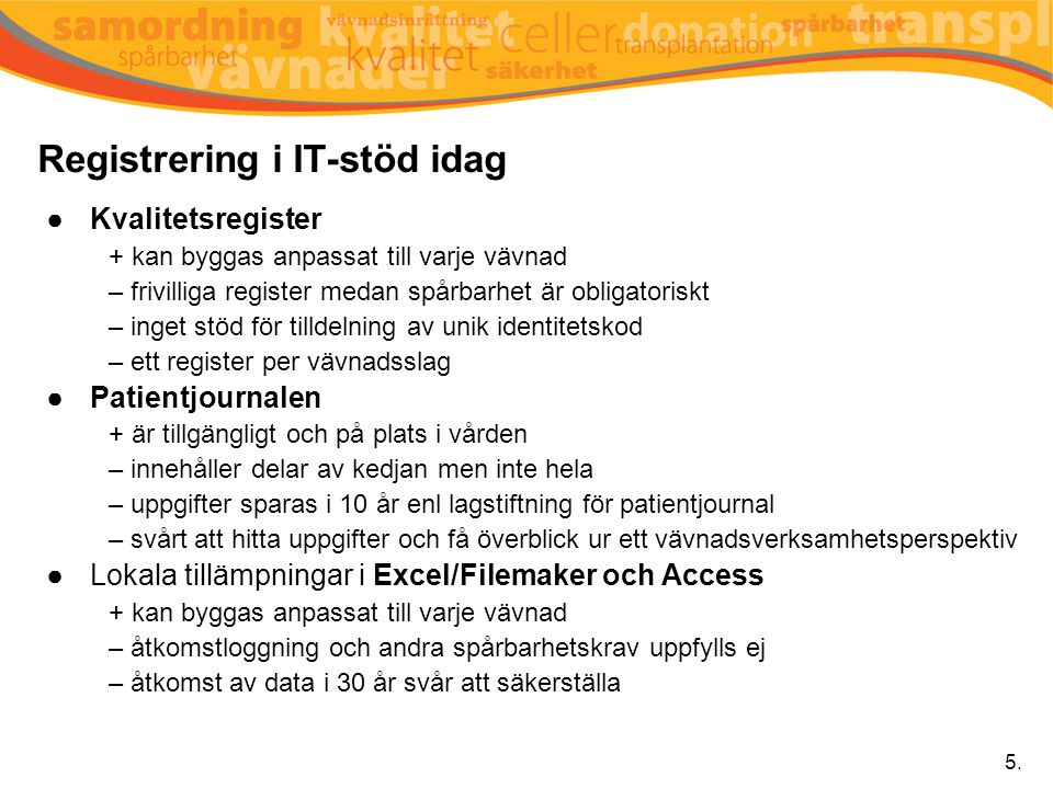 Registrering i IT-stöd idag