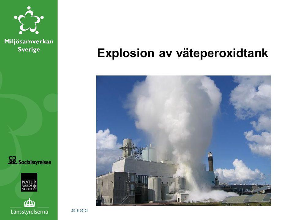 Explosion av väteperoxidtank