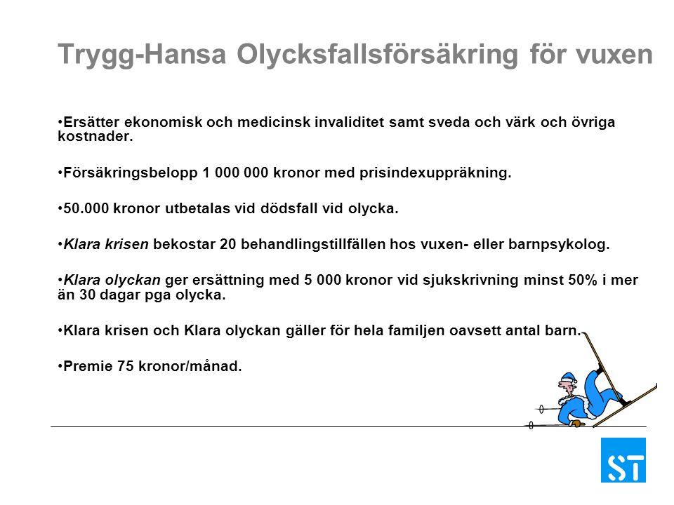 Trygg-Hansa Olycksfallsförsäkring för vuxen