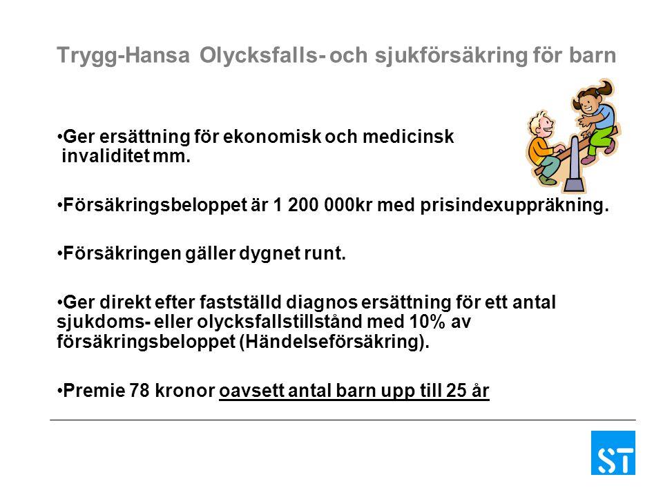 Trygg-Hansa Olycksfalls- och sjukförsäkring för barn