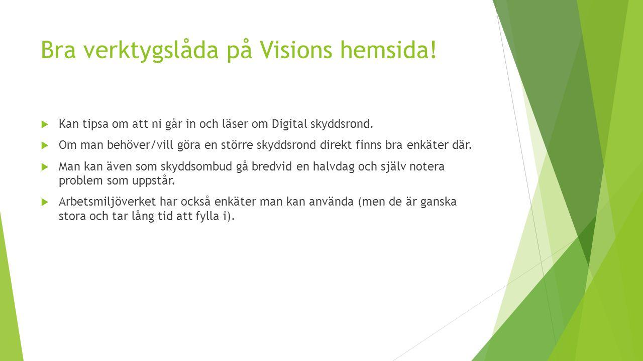 Bra verktygslåda på Visions hemsida!