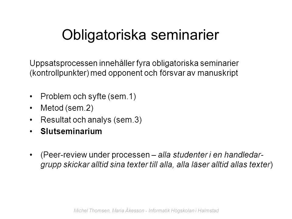 Obligatoriska seminarier