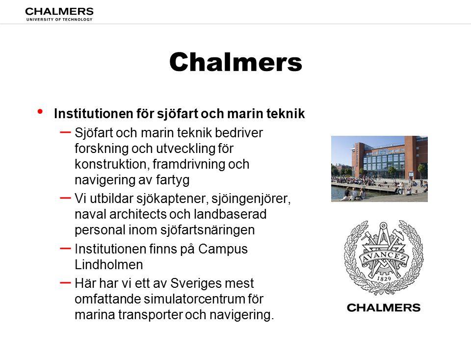 Chalmers Institutionen för sjöfart och marin teknik