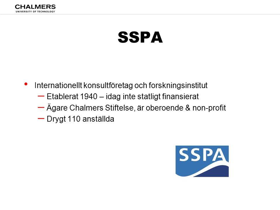 SSPA Internationellt konsultföretag och forskningsinstitut