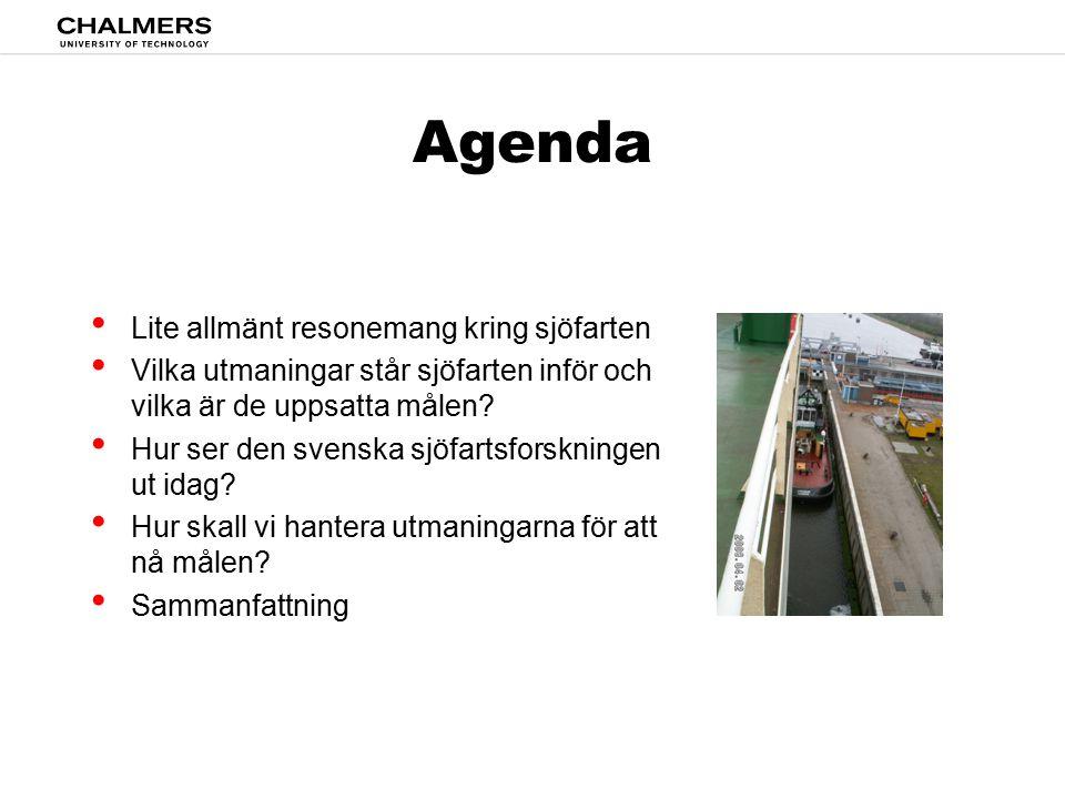 Agenda Lite allmänt resonemang kring sjöfarten