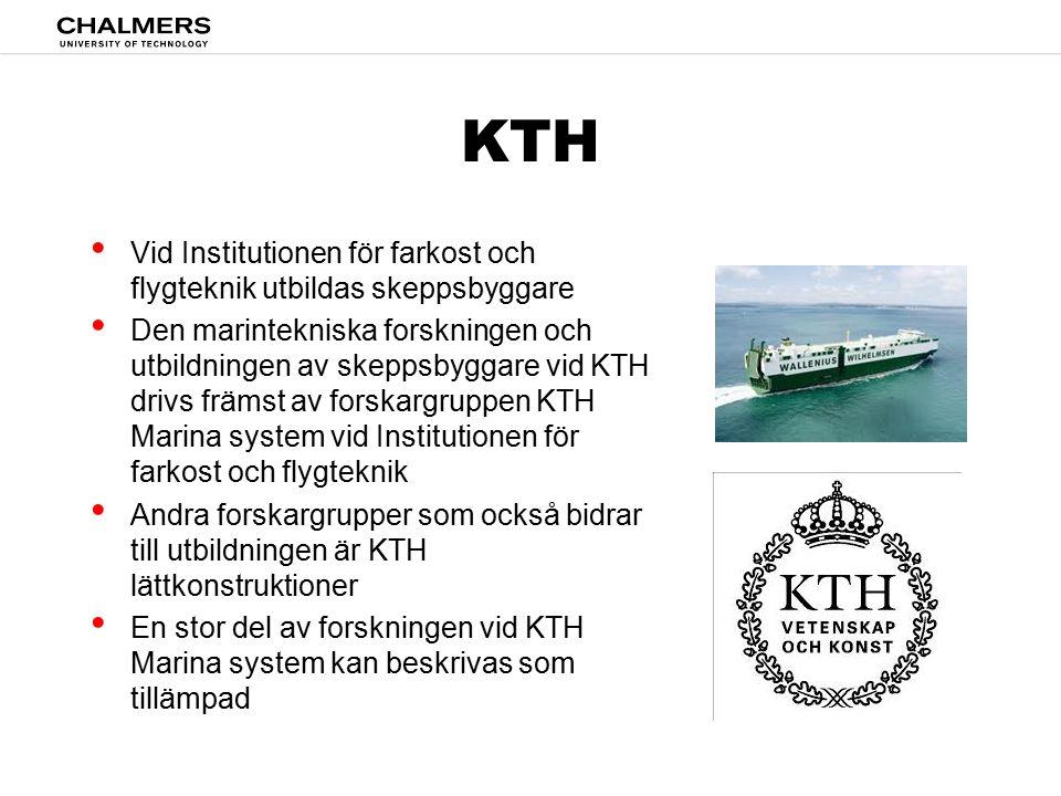 KTH Vid Institutionen för farkost och flygteknik utbildas skeppsbyggare.