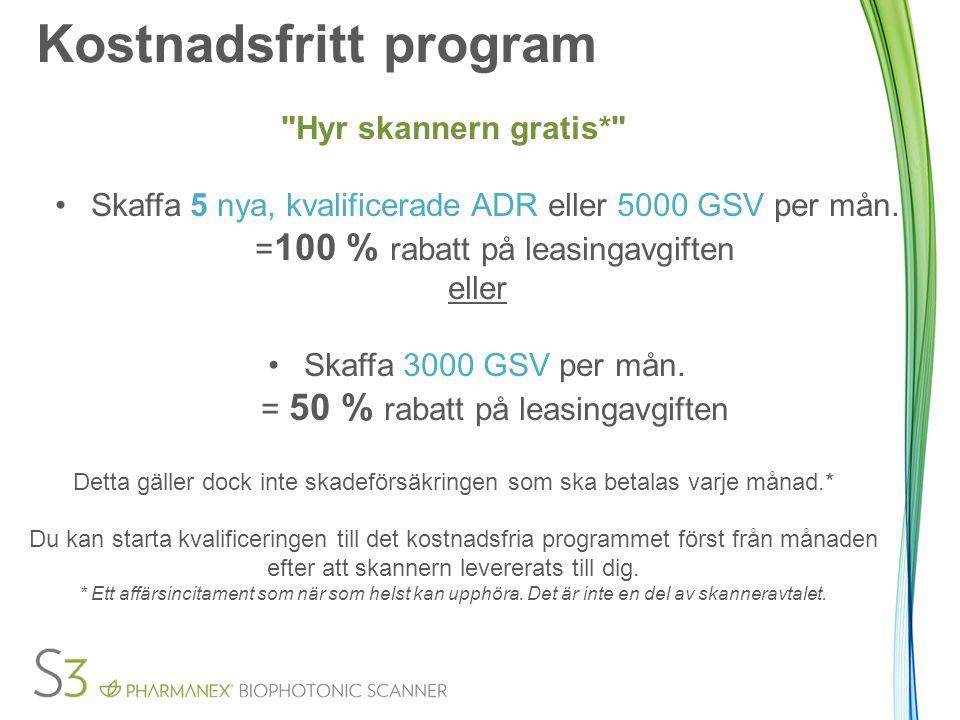 Kostnadsfritt program