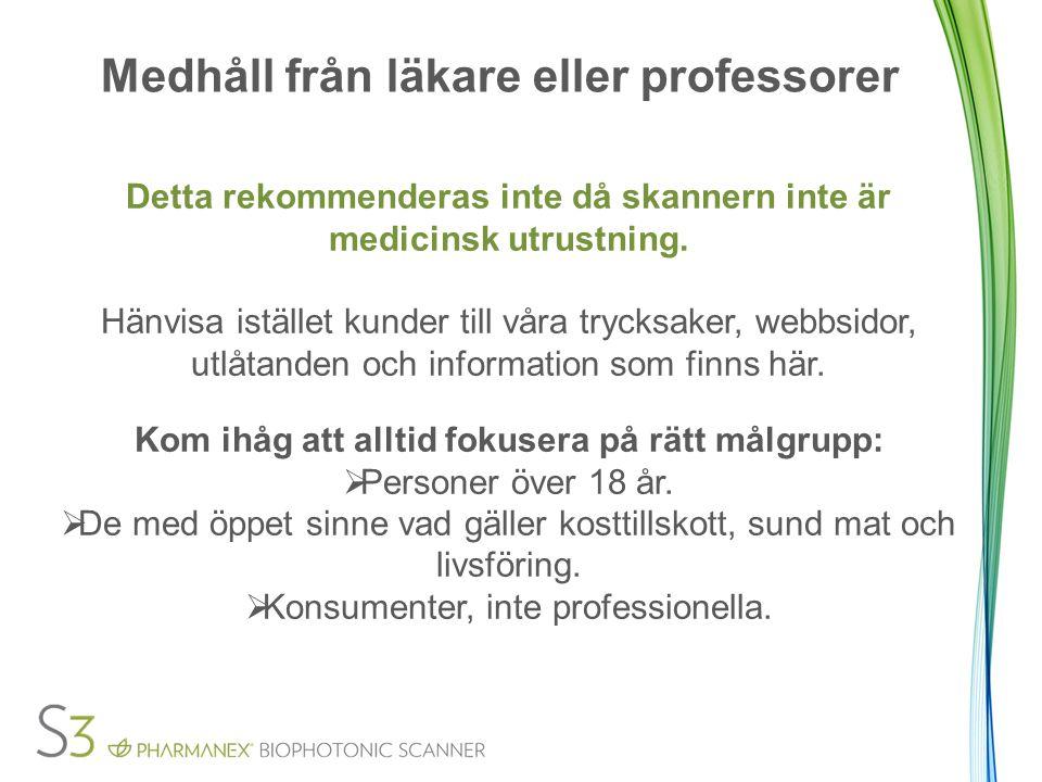 Medhåll från läkare eller professorer