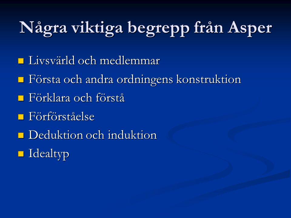 Några viktiga begrepp från Asper