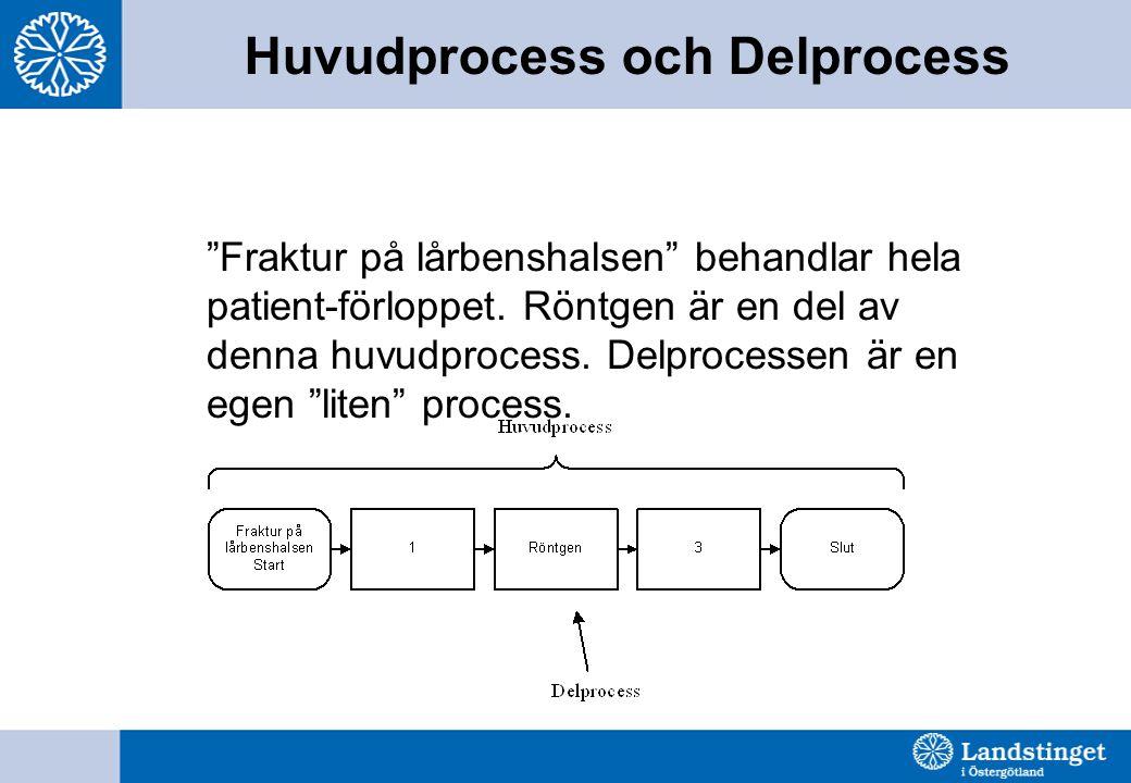 Huvudprocess och Delprocess