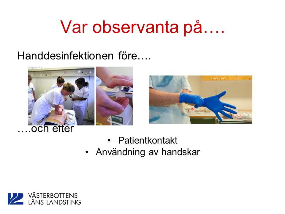 Användning av handskar