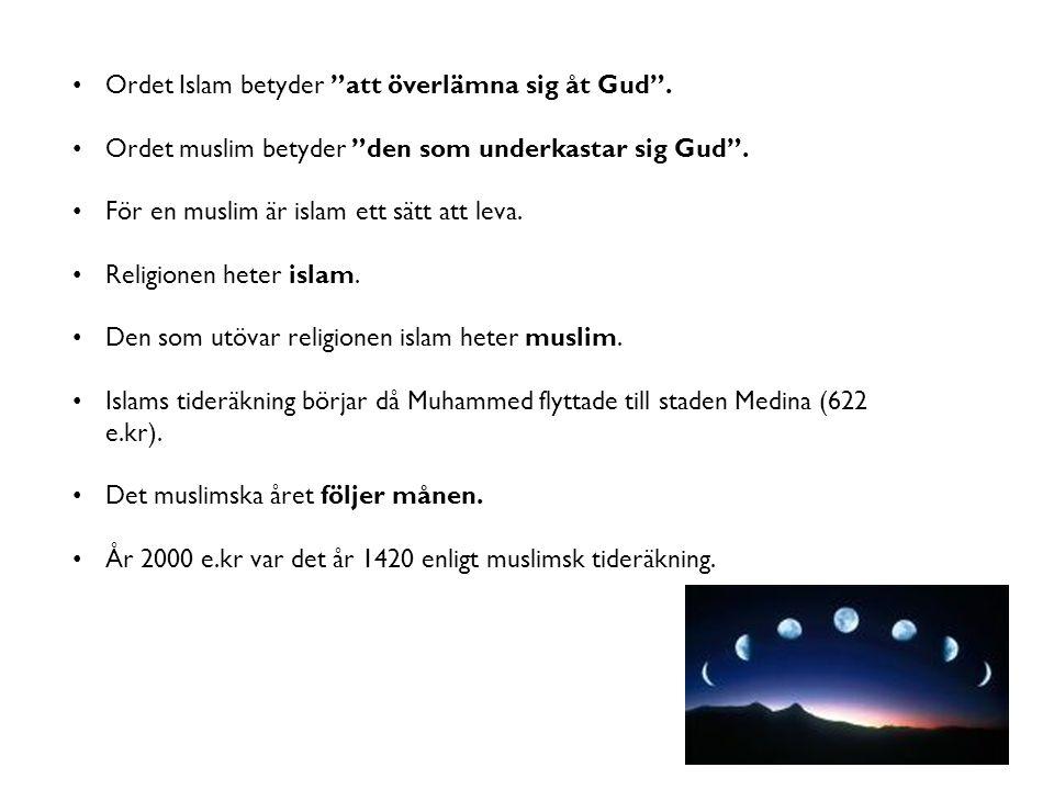 Ordet Islam betyder att överlämna sig åt Gud .