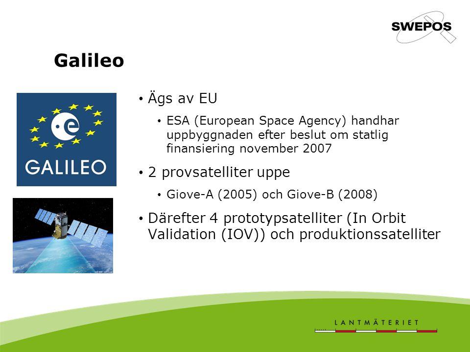 Galileo Ägs av EU 2 provsatelliter uppe