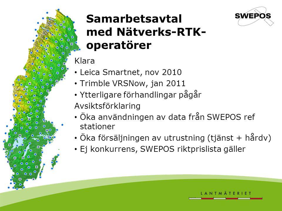 Samarbetsavtal med Nätverks-RTK-operatörer