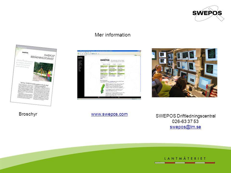 SWEPOS Driftledningscentral