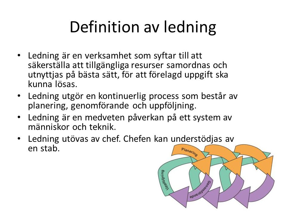 Definition av ledning