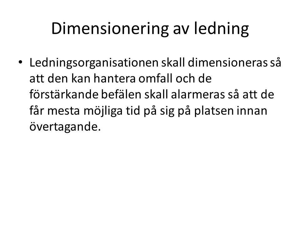 Dimensionering av ledning