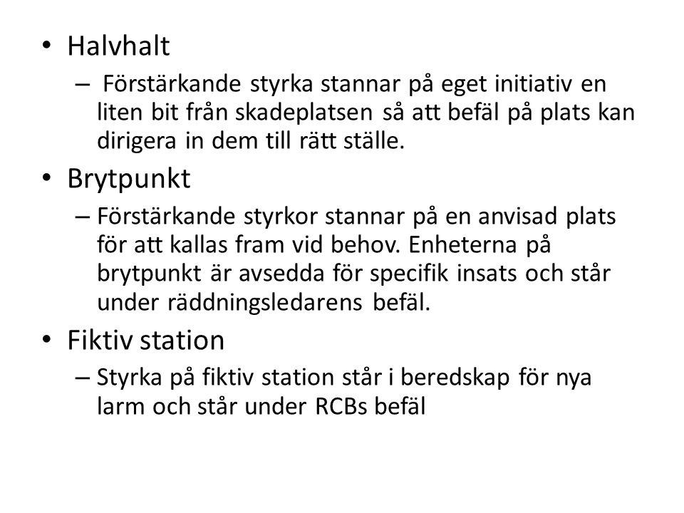 Halvhalt Brytpunkt Fiktiv station